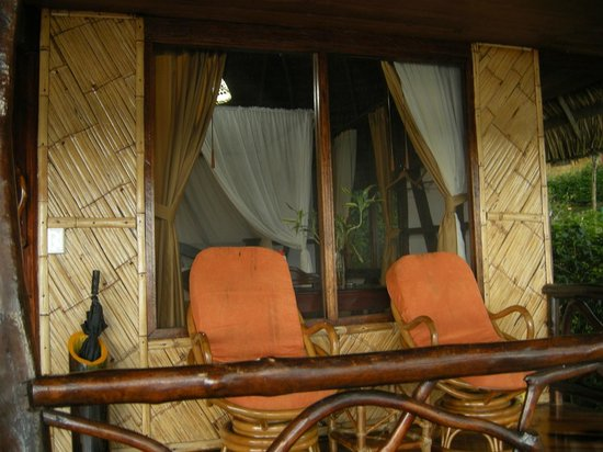 Napo Wildlife Center Ecolodge: The porch on our hut.