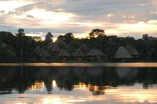 Napo Wildlife Center Ecolodge: Sunrise over the lodge