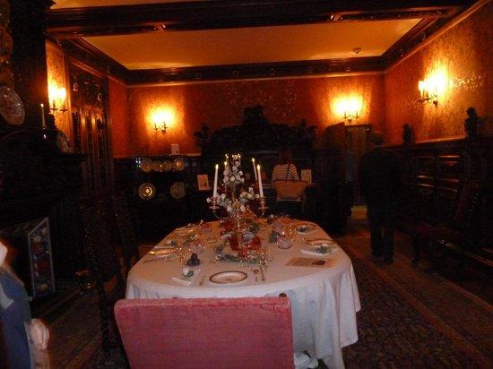 Oxburgh Hall: The dining room