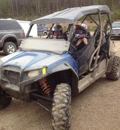 The Mountainside at Silver Creek: riding te trails in the atv from Spirit Lake Rentals