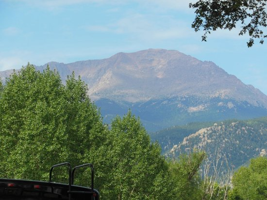 Garden of the Gods RV Resort: View of Pikes Peak from our GOG RV CAMPSITE