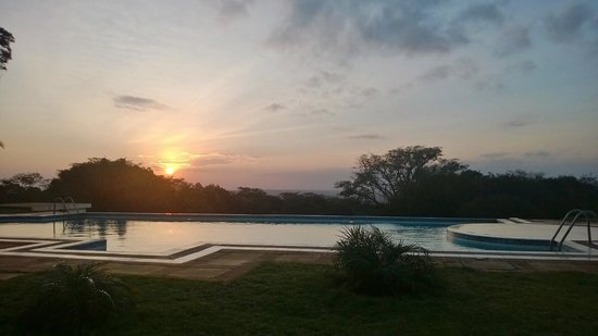 Beutiful sunset view at Kilima Kiu Manor