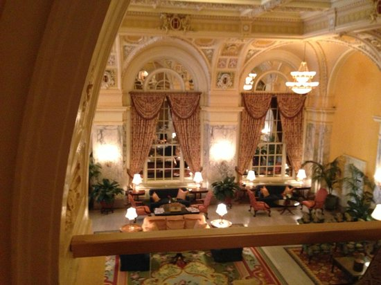The Hermitage Hotel: view of lobby from mezzanine