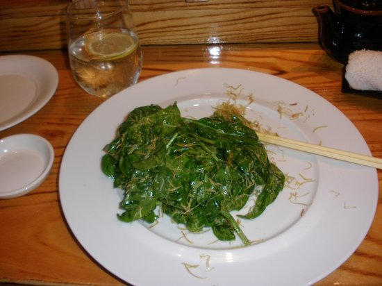 Nobu Next Door: After I Dug-in to my Spinach Salad