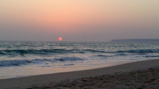Hotel Avenida Playa: puesta del sol nella splendida spiaggia