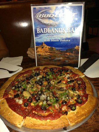 Badlands Saloon and Grille: Vegan pizza