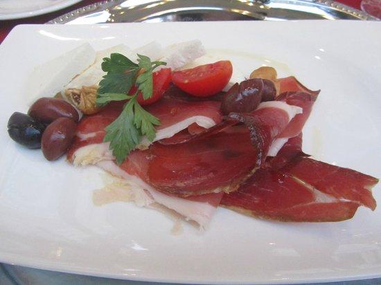Restaurant Dubrovnik : Dalmatian prosciutto and cheese entree