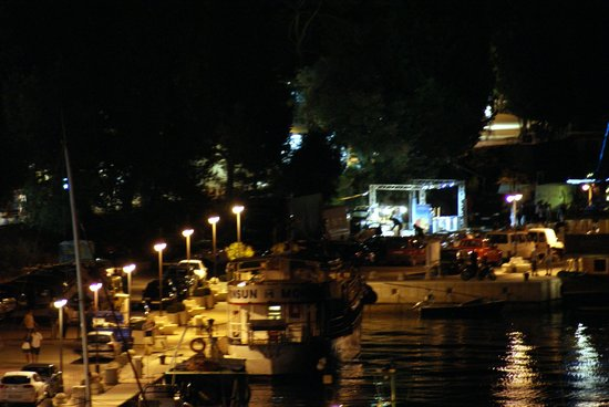 Hotel Amfora: Night View from Balcony