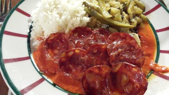 Le Grand Grill Basque : Filet de morue et chorizo