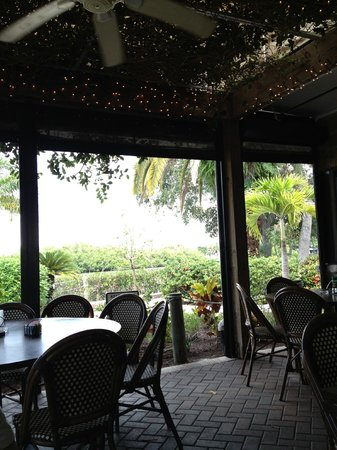 Farlow's On The Water : Under the pergola, with view of river