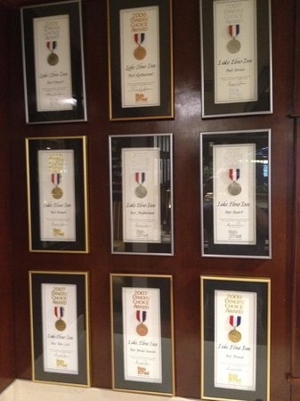 Lake Elmo Inn: Many awards - here are some of them