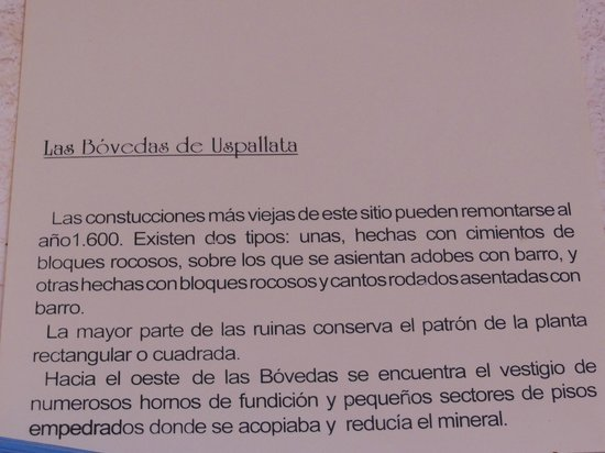 Bovedas De Uspallata: cultura