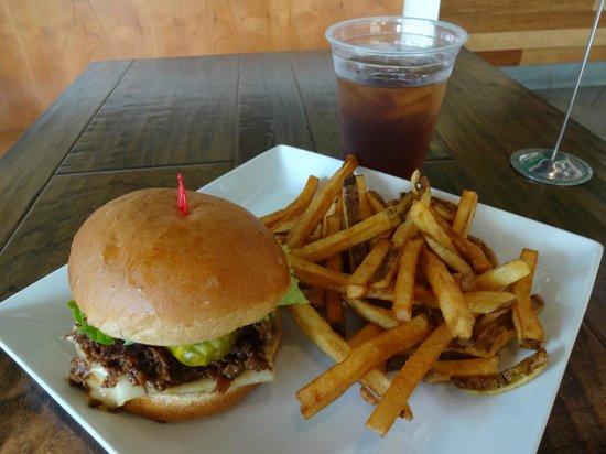 Kraze Burgers: The Bulgogi Burger combo platter, on sale for $9.95