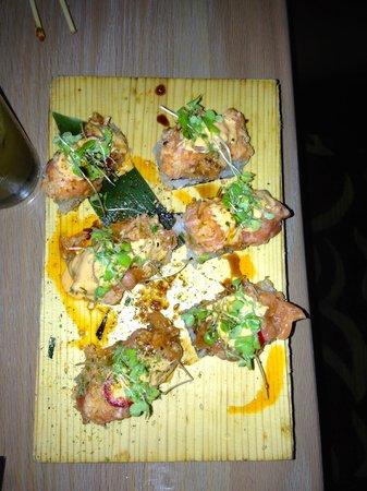 Spicy Salmon Rice Bites