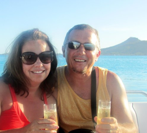 Le Meridien Bora Bora: During a sunset cruise that the resort arranged for us