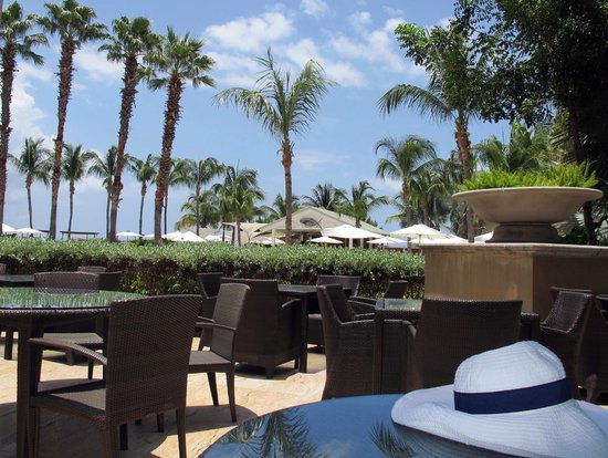 The Ritz Carlton Grand Cayman View From Outside Dining Area At 7 Restaurant
