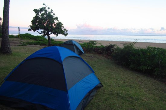 Ha'ena State Park: my tent