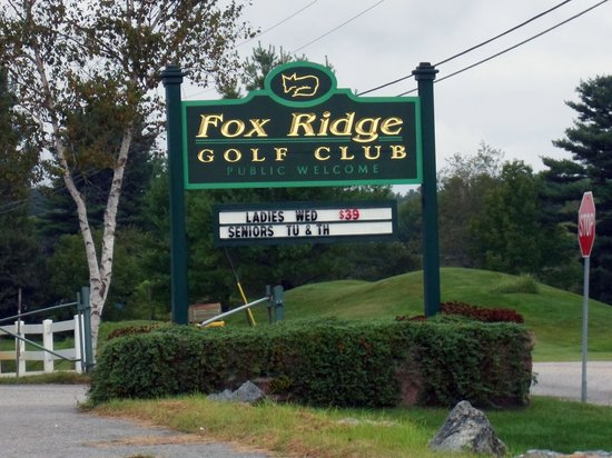 Auburn, ME: Maine - Fox Ridge - Sign