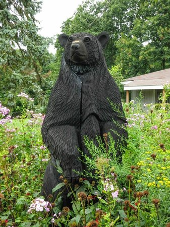 WhistleWood Farm Bed and Breakfast: Bear sculpture