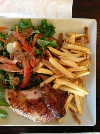 Panca Peruvian Rotisserie: the 1/4 chicken meal is flavorful