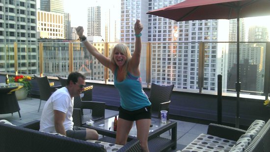 Inn of Chicago: We love the rooftop patio!