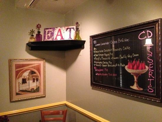 CD Cafe: specials on the wall