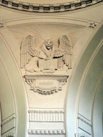 Ev.-luth. Kirche Moritzburg: Evangelisten-Stuckornamente