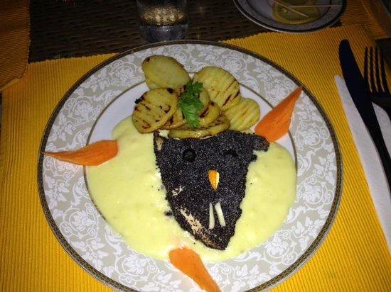 Restaurant Pasaj: Chicken Dracula.  Highlight of the night