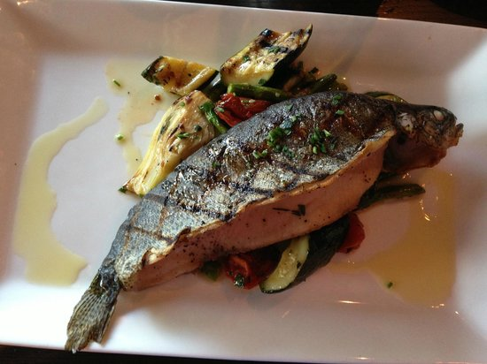 Local Restaurant & Bar: whole trout with seasonal veggies at Local