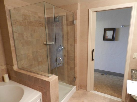 Shower stall and jacuzzi tub - Picture of Blue Dolphin Inn, Cambria ...