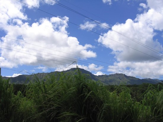 Lawai Beach Resort: view of Mountains on Roadway