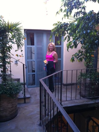 Casa Florida : Just outside the room, after doing yoga on the roof deck...
