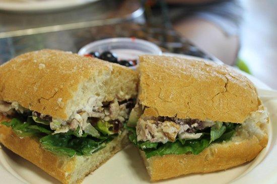 Bonnie's Toppings: chicken waldorf sandwich