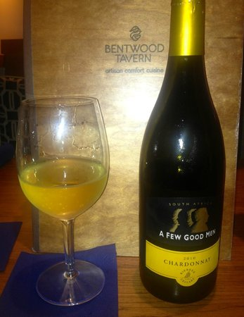 Bentwood Tavern: A View Good Men South African Chardonnay