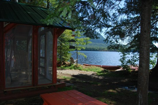 Spencer Pond Camps: View of Pond from Bemsis Cabin
