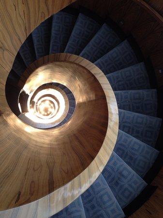 Las Alcobas Mexico DF: Center Circular Stair - Looking Down