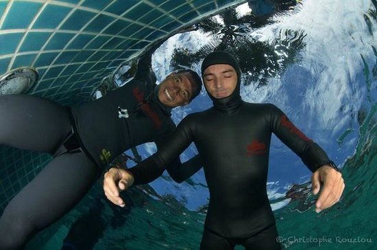 We Freedive: Static Training with Yann and Azam - Photo © Christophe Rouziou, used with permission