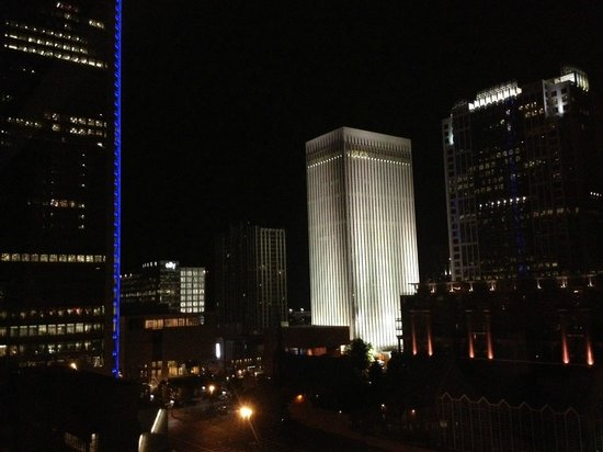 The Westin Charlotte : Night time view from room