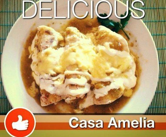Hotel Casa Amelia: Delicious Enchiladas
