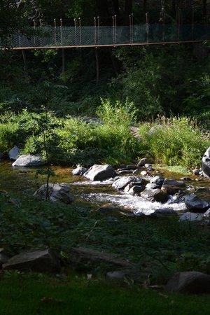 Junipine Resort: Creek and picnic area