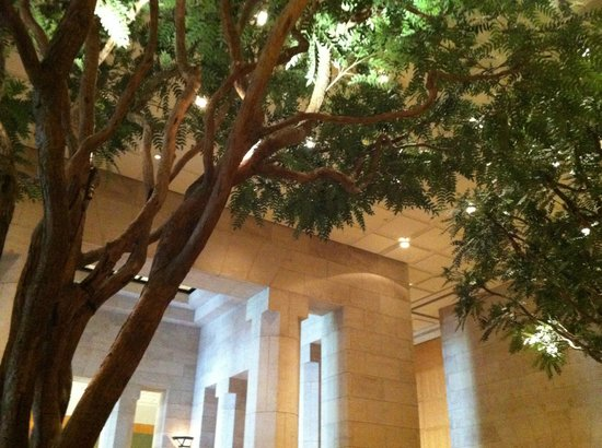 The Garden at The Four Seasons : Indoor trees in the IM Pei Lobby