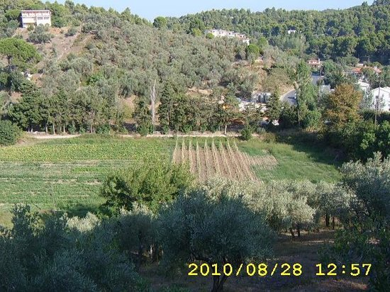 Xanthi Studios: view from balcony