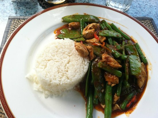 Courtside Thai Cuisine: Red curry, and yes it is very spicy.