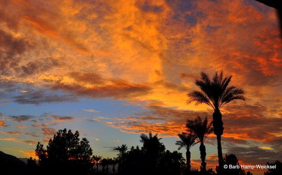 Embassy Suites by Hilton Hotel Palm Desert: sunset from the balcony of Rm 318