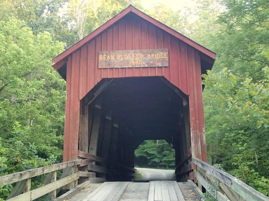 Nashville Indiana: supposedly haunted bridge outside town