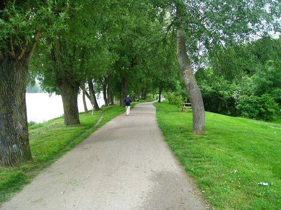 Chateau Gaudrelle, Vins de Vouvray: Walk Track right next to La Loire River