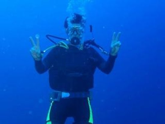 Moby Dives: The deep blue Gozo water makes for a very relaxed dive