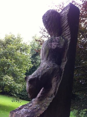 Towneley Hall: squirrel sculpture