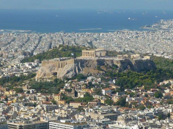 Mount Lycabettus: Vue sur l'acropole depuis Lycabette