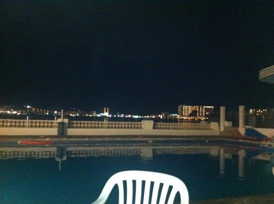 Hotel San Remo: view from pool terrace at night